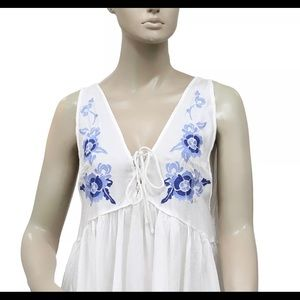 Free People Dresses - Free People 'Aida' White Embroidered Swing Dress